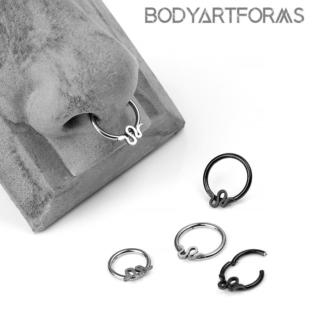 Titanium Snake Clicker Ring