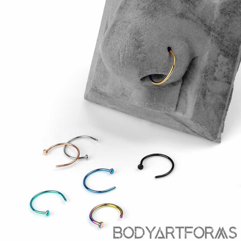 PVD Plated Titanium Nose Hoop