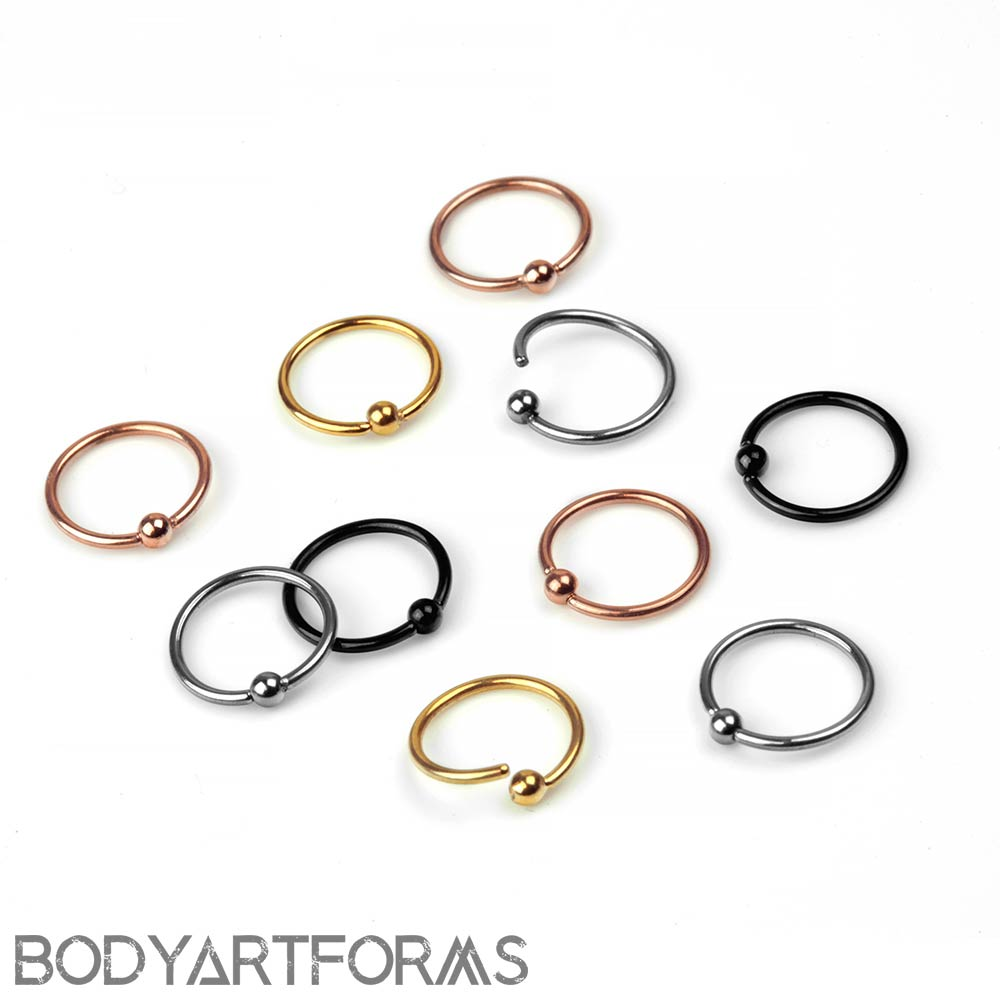 Titanium Fixed Bead Captive Ring