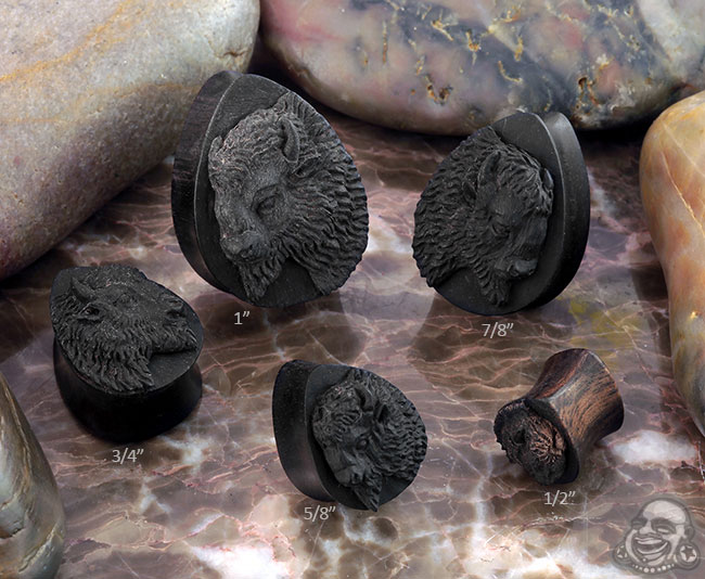 Arang Wood Bison Teardrop Plugs