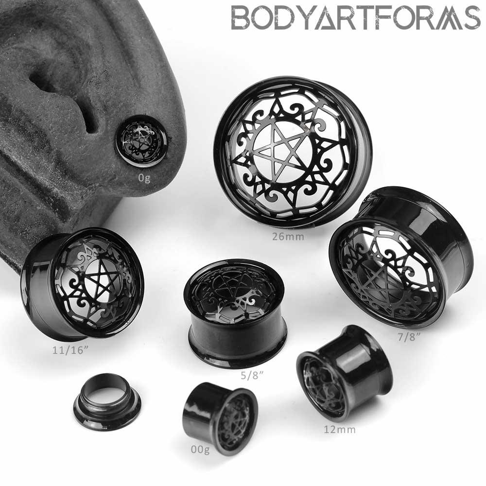 Black Pentagram Eyelets
