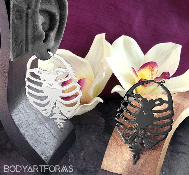 Caged Heart Earrings