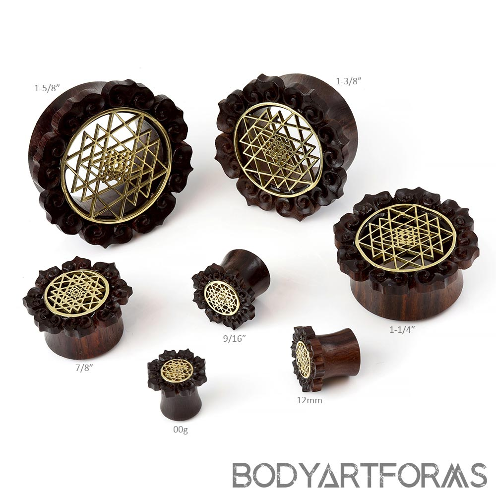 Ebony Wood Srimandala Plugs