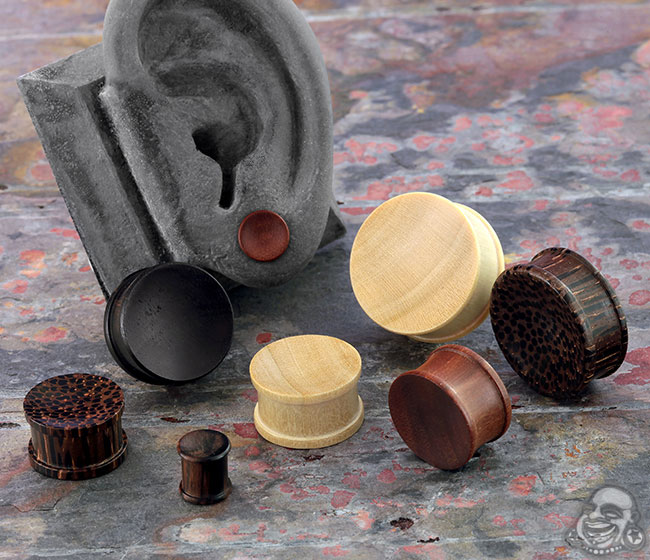Double Flare Concave Plugs